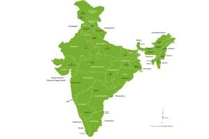 Karte Indien