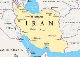 Landkarte Iran Berberitze Rauchsalz