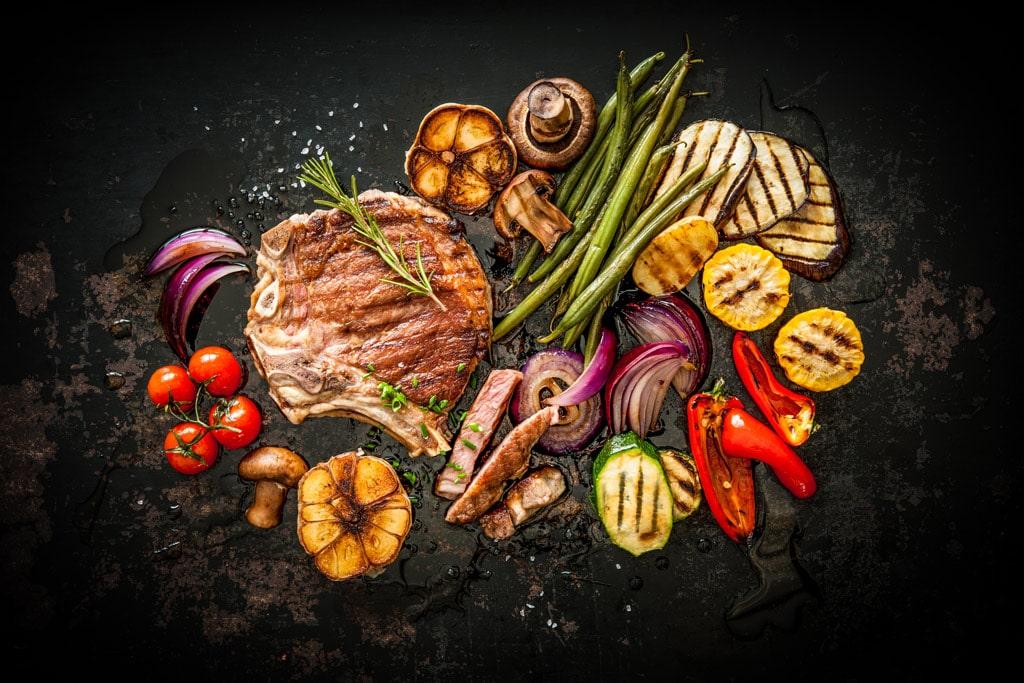 Rauchsalz Gemüse und Fleisch vom Grill